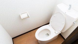 狭いシンプルなトイレ